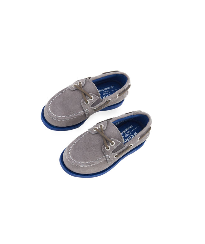 Little Kids Sperry x vineyard vines Authentic Original Plush Two-Eye Boat Shoe