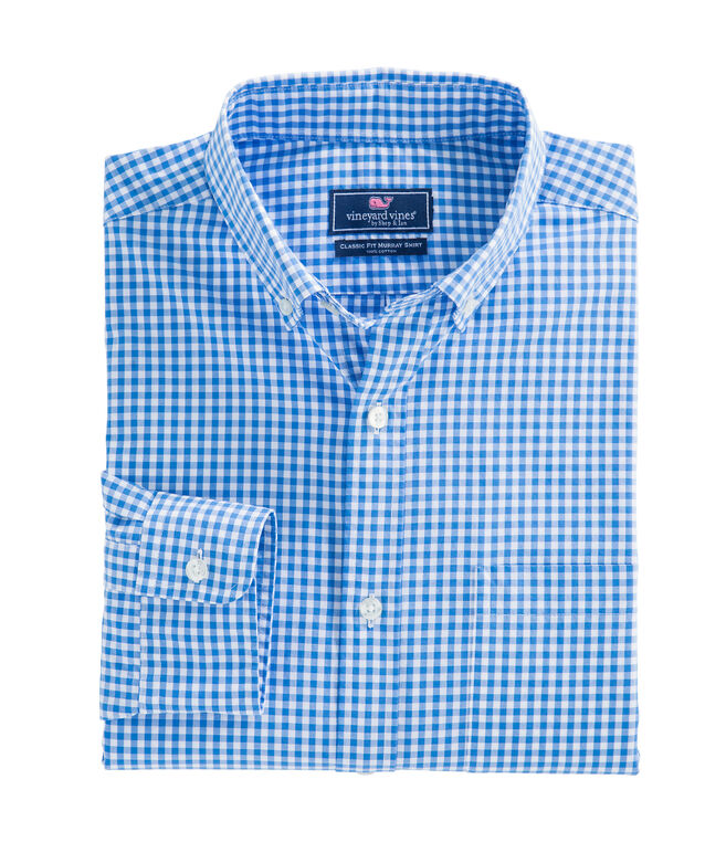 Seafloor Gingham Classic Murray Shirt