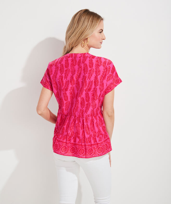 Painted Palm Tiered Top