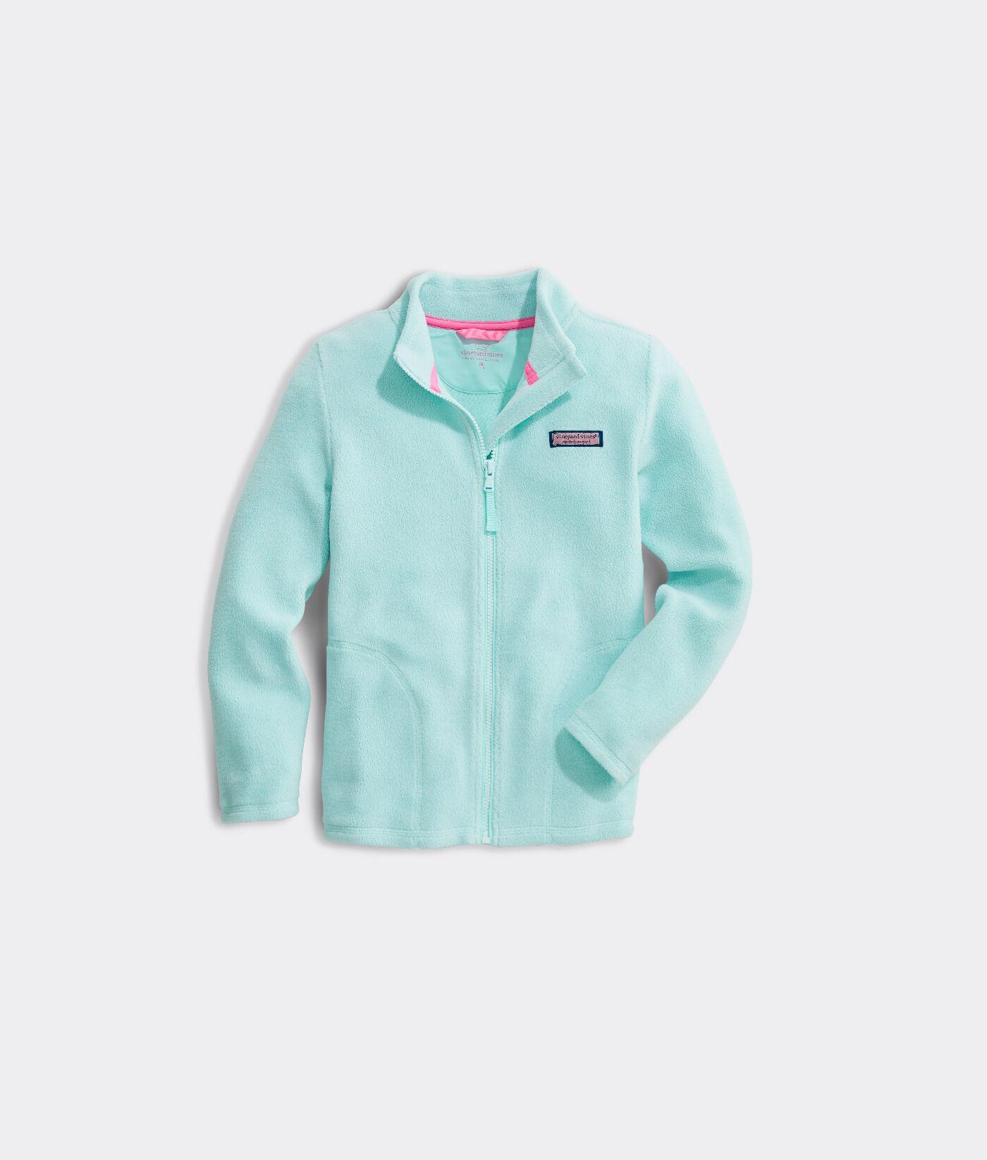 Essentials Girls Polar Fleece Full-Zip Mock Jackets