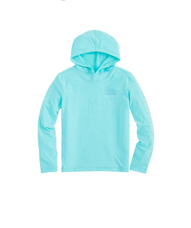 Girls Long-Sleeve Whale Hoodie Sunshirt