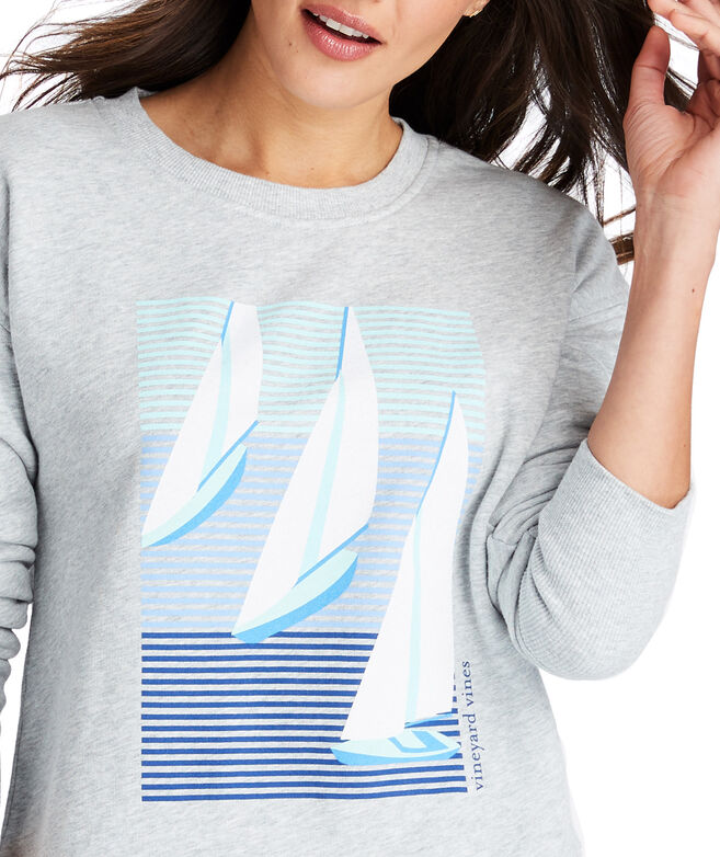 Long-Sleeve Sailboats Sweatshirt