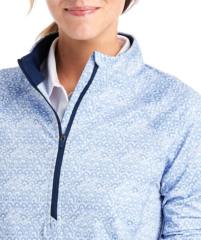 Printed 1/2-Zip Pullover