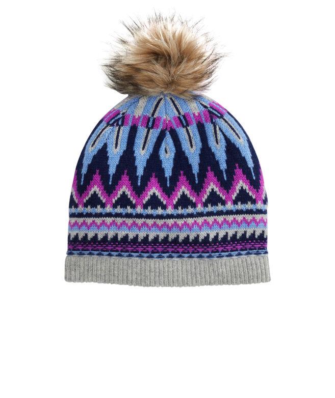 Pop Fair Isle Pom Hat
