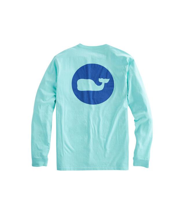 Long-Sleeve Whale Dot Pocket T-Shirt
