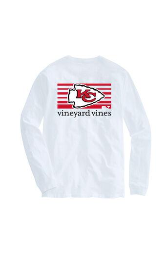 Adult Chiefs Long-Sleeve Block Stripe T-Shirt d73023df3