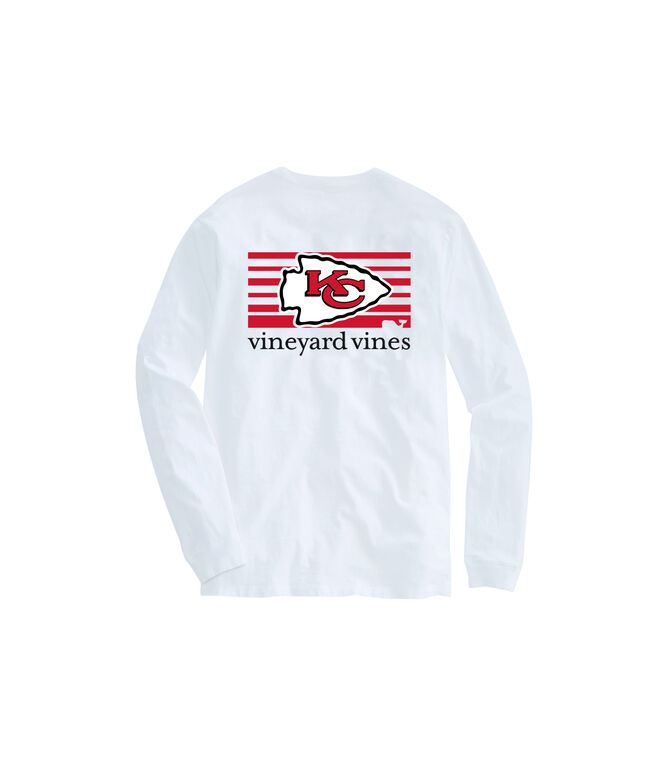 Adult Chiefs Long-Sleeve Block Stripe T-Shirt