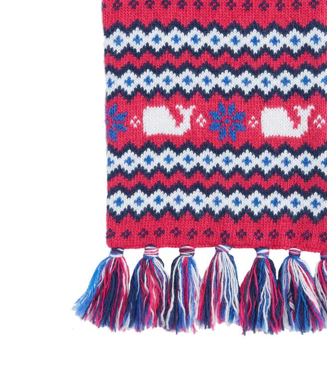 Girls Fairisle Knit Scarf