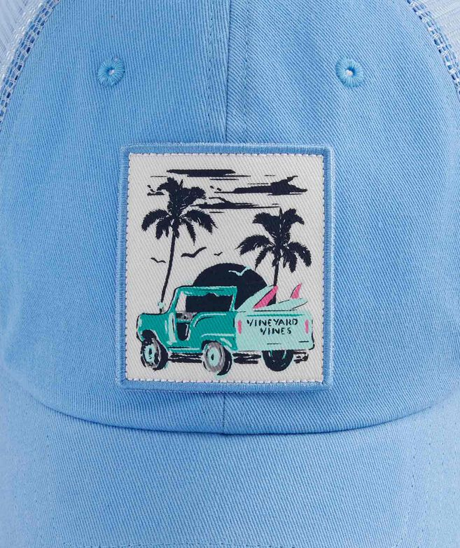 Womens Truck & Palm Patch Trucker Hat