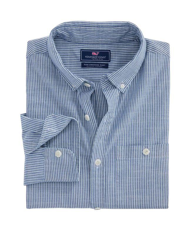 Falcon Stripe Slim Longshore Shirt
