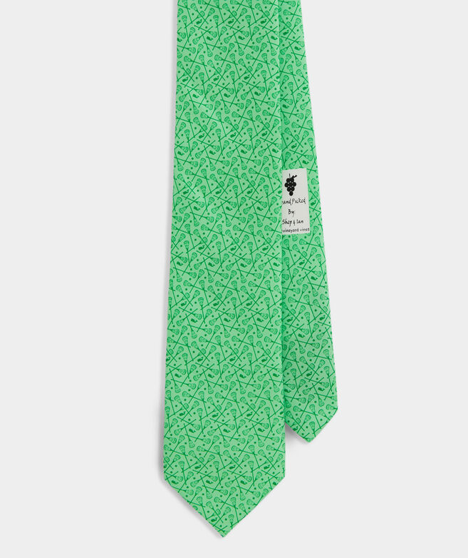 Scattered Lacrosse Printed Tie