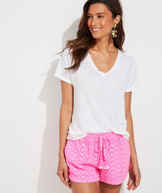 Wave Eyelet Pull-On Shorts