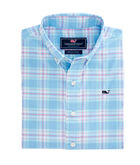 Boys Montauk Point Plaid Performance Whale Shirt