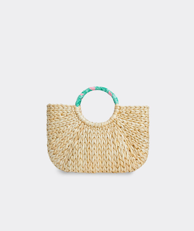 Banana Leaf Wrapped Handle Straw Tote