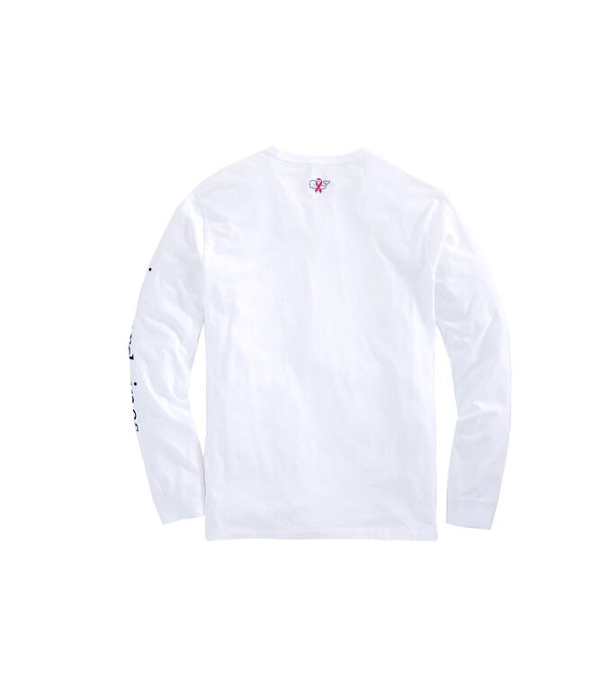 Mens Long-Sleeve Breast Cancer Awareness Logo T-Shirt