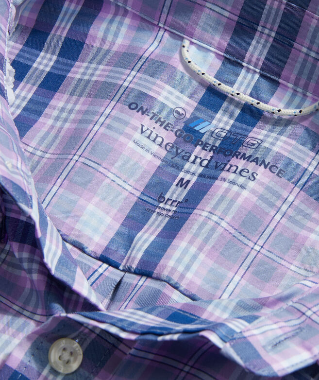 Classic Fit Plaid On-The-Go Shirt in Performance brrr°