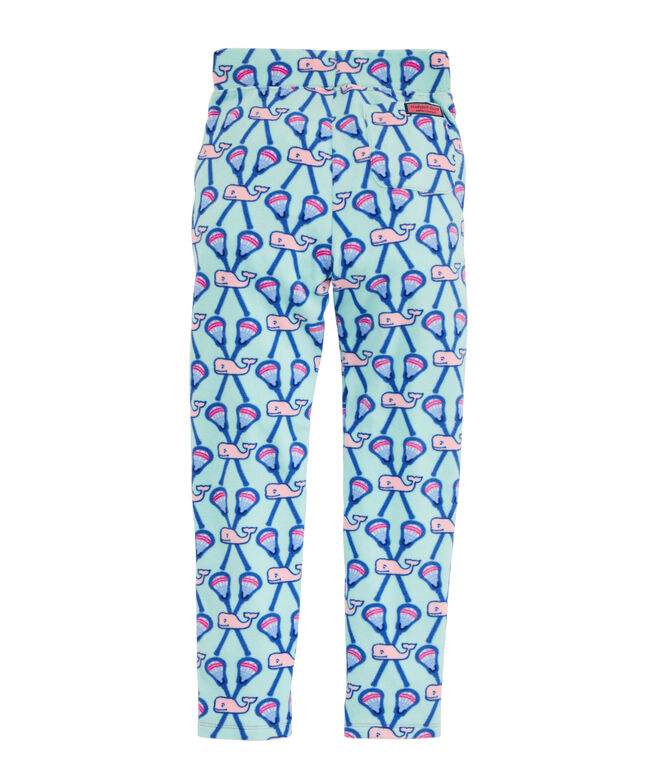 Girls' Whale Fleece Pajama Pants