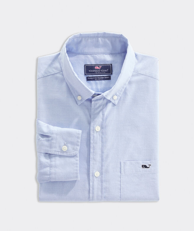Classic Fit Oxford Shirt in Stretch Cotton