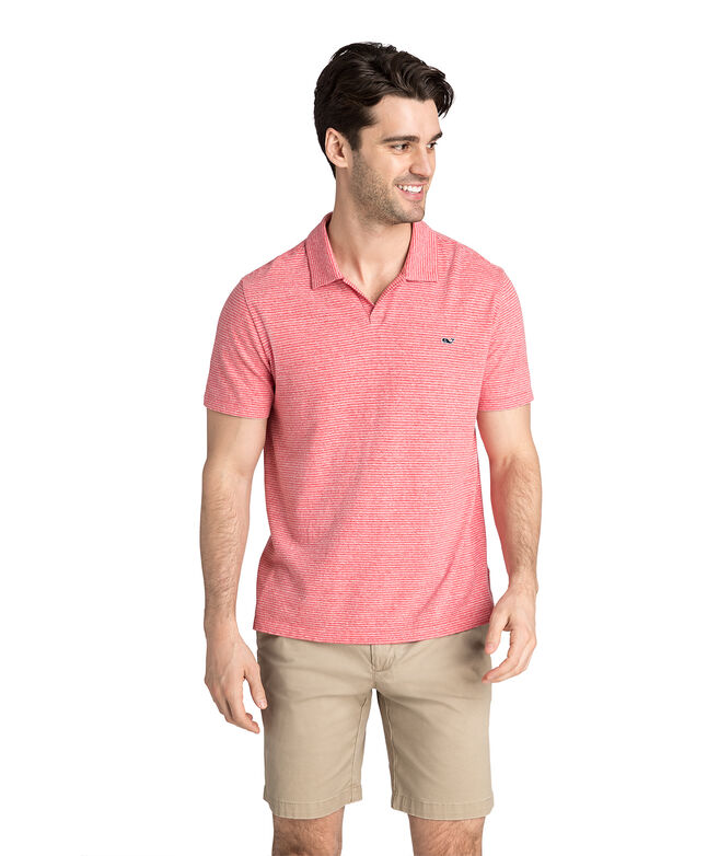 Striped Linen Cotton Polo