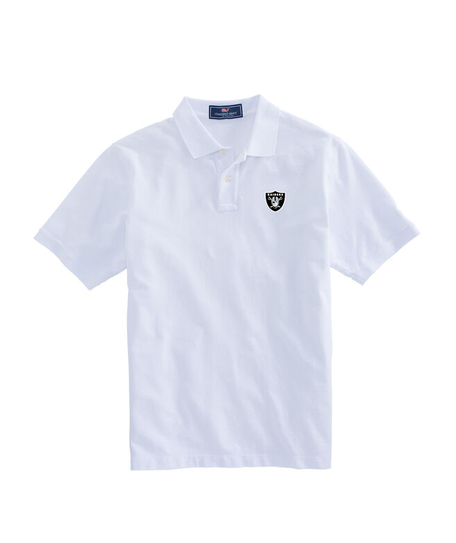 Oakland Raiders Stretch Pique Polo