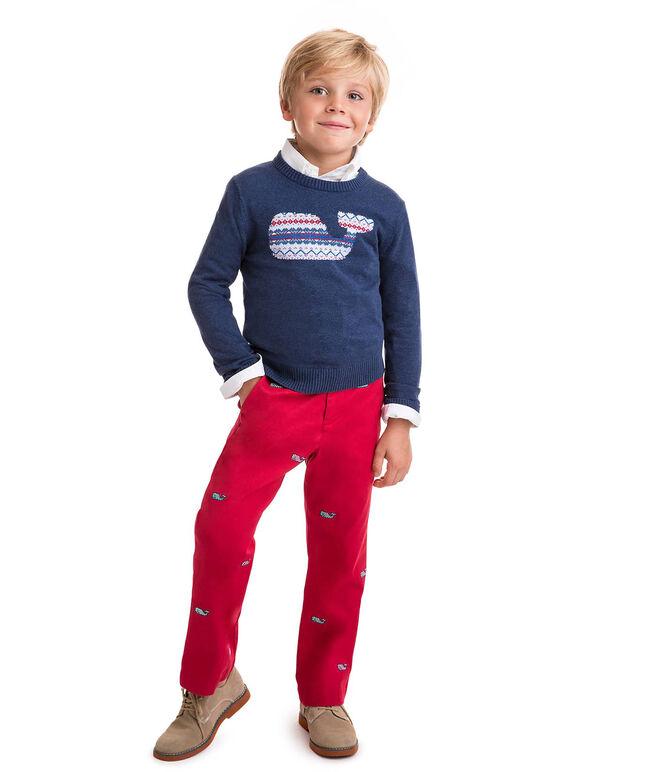 Boys Whale Isle Intarsia Sweater