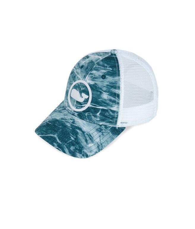 NWT VINEYARD VINES Men/'s Sharkskin Grey PERFORMANCE Mesh Whale Dot Baseball Hat
