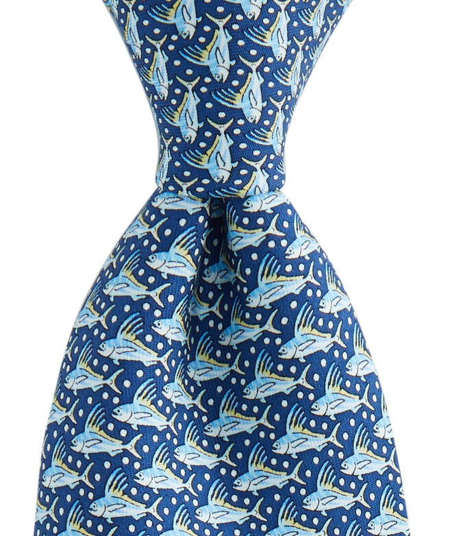 Rooster Fish Printed Tie