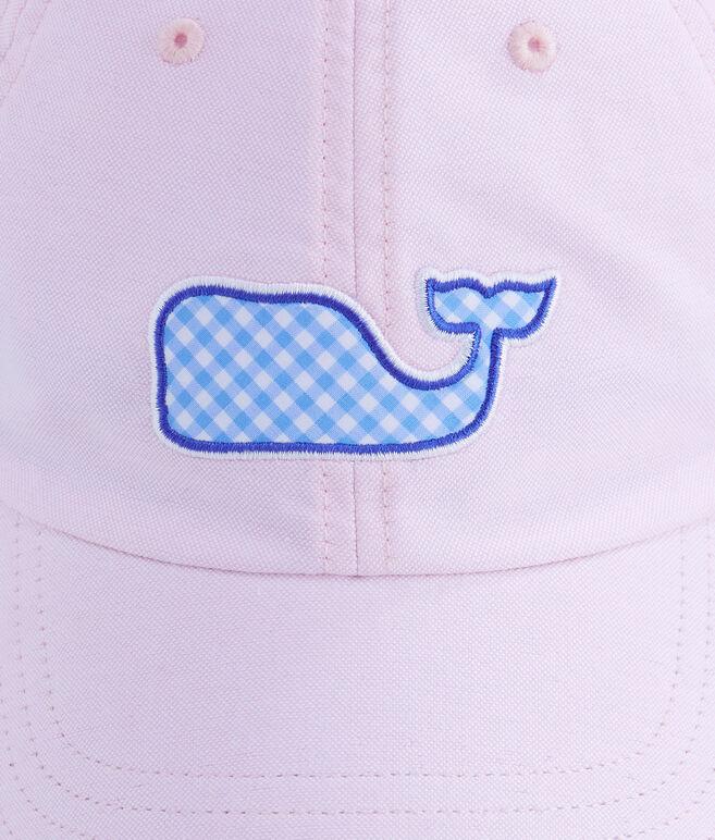 Gingham Whale Fill Baseball Hat