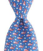 Boys Flag Whale Tie