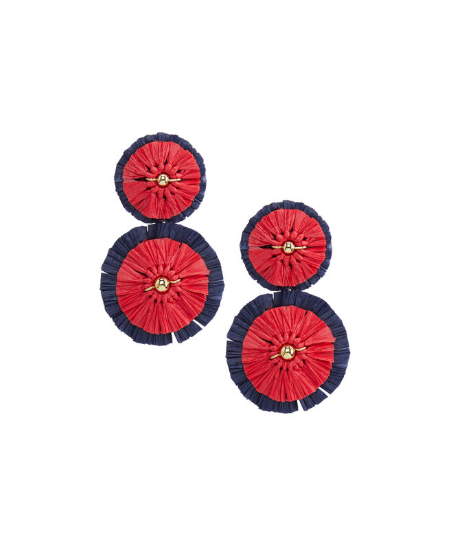 Raffia Firework Earrings