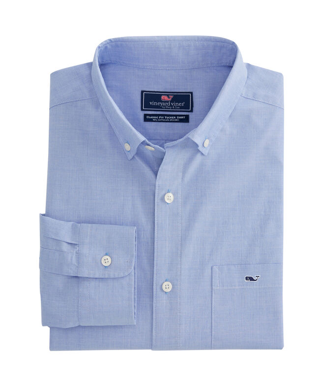 Long-Sleeve Classic End On End Stretch Tucker Shirt