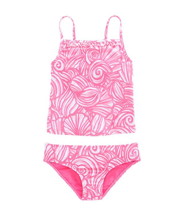 Girls Nautilus Shell Print Tankini
