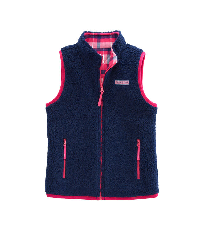 Girls Reversible Sherpa Vest