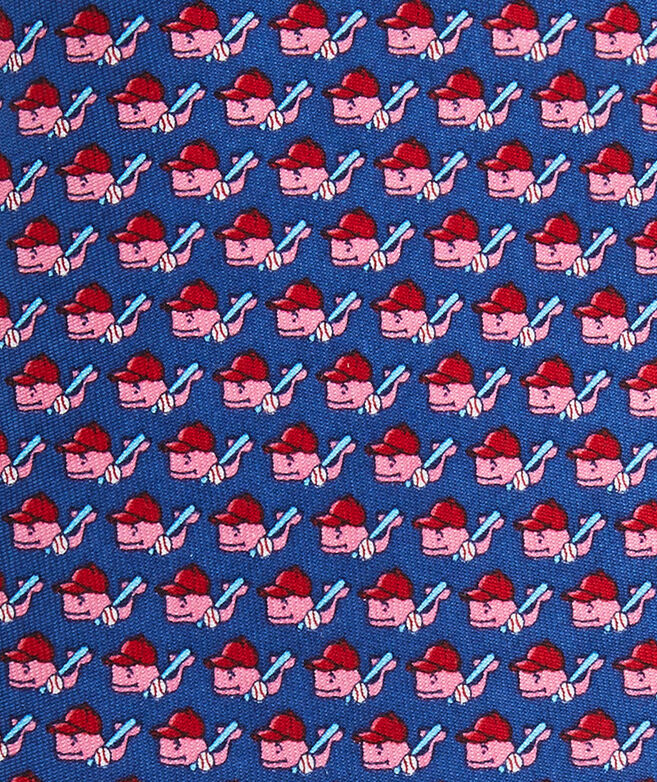 Baseball Character Whale XL Printed Tie