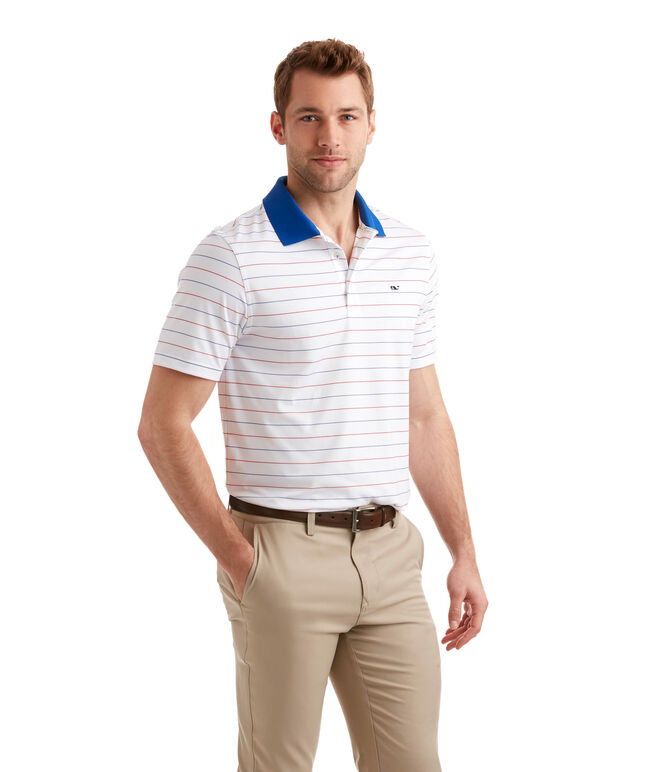 Litchfield Stripe Sankaty Performance Polo