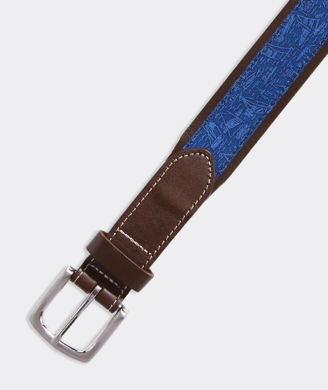 Sail the Yard Leather Club Belt