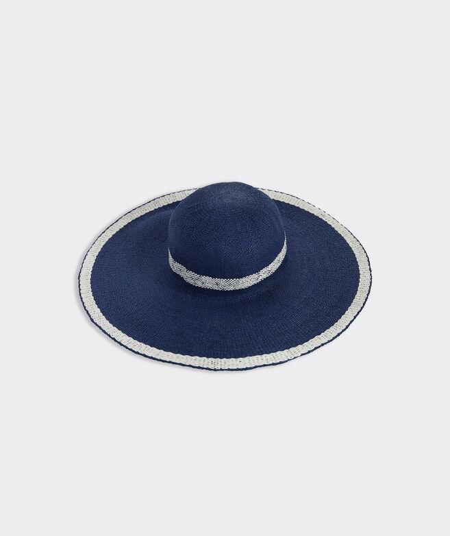 Border Stripe Straw Sun Hat