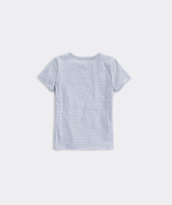 Girls' Squeeze The Day Flip Sequins Short-Sleeve Ringer Tee