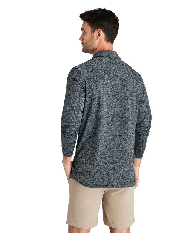 Destin Stripe Long-Sleeve Polo