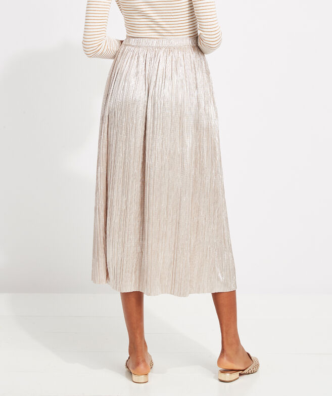 Gold Sparkle Pleated Skirt