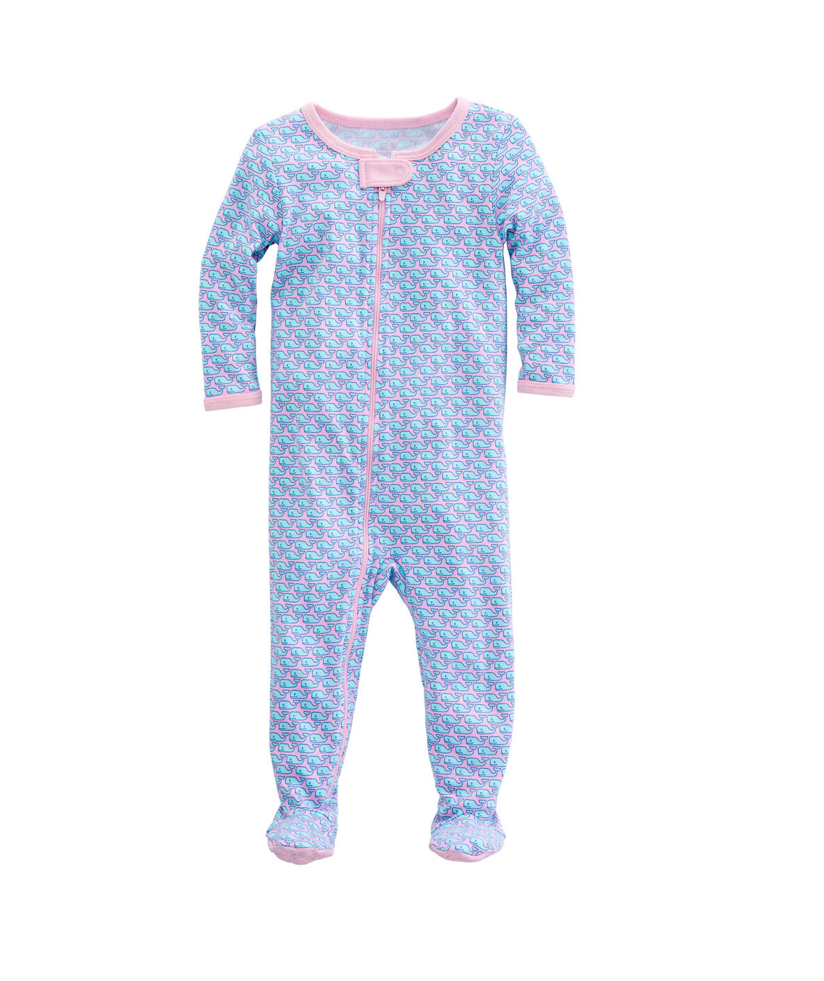 Shop Vineyard Whale Zip Footed Onesie At Vineyard Vines