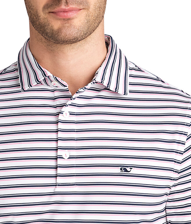 Three Color Stripe Sankaty Polo