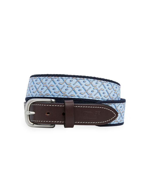 Boys Hockey Sticks Canvas Club Belt