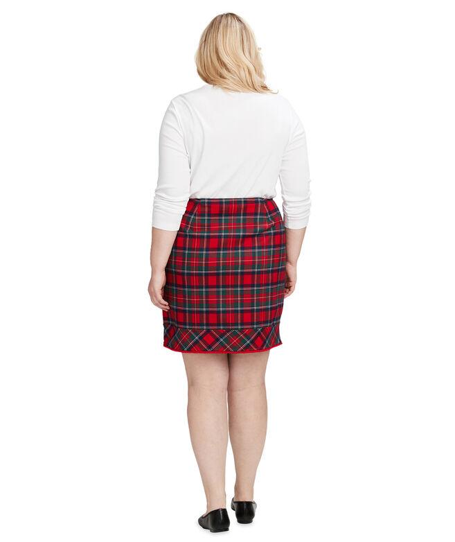 Merry Plaid Fringe Postage Stamp Skirt