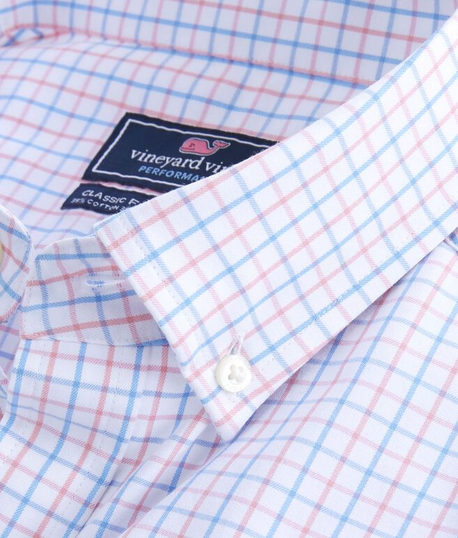 Performance Pepperbush Plaid Classic Tucker Shirt