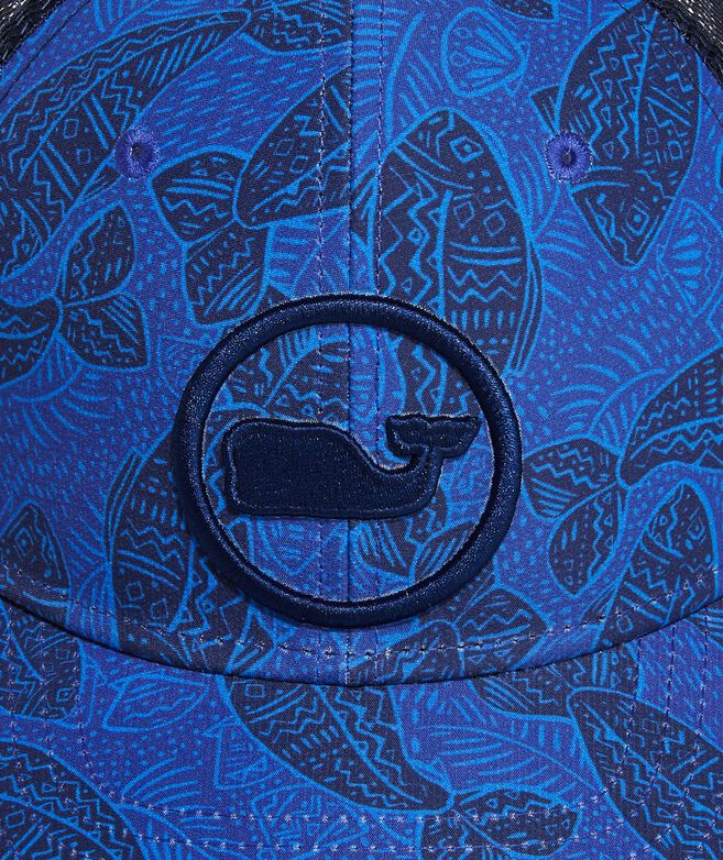 Fish Lines Whale Dot Performance Trucker Hat