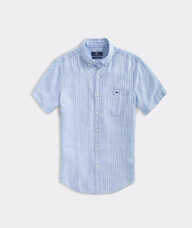 Classic Fit Crown Haven Short-Sleeve Tucker Button-Down Shirt
