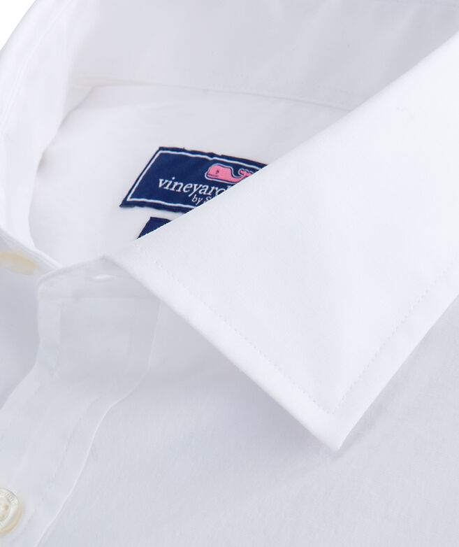 Solid White Classic Fit Burgee Shirt