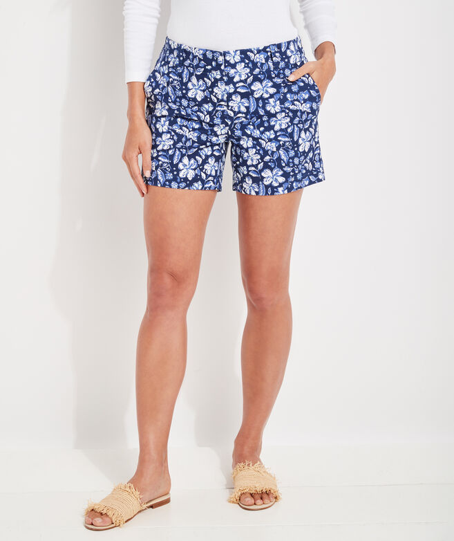 Hibiscus Floral 5 Inch Every Day Shorts