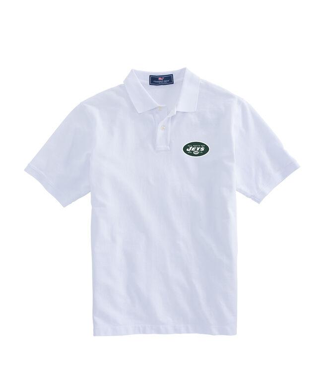New York Jets Stretch Pique Polo